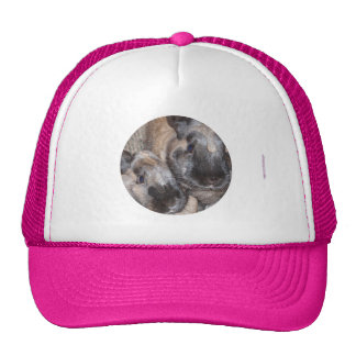 Bunny Rabbits - 2 Brown Silky Bunnies Trucker Hats