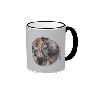 Bunny Rabbits - 2 Brown Silky Bunnies Coffee Mugs