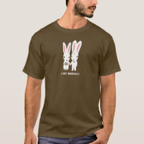 Bunny Rabbits Bride and Groom with Custom Text T-Shirt