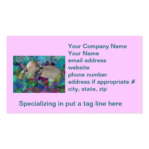 Bunny Rabbits in Fantasyland: A Hare Tale Double-Sided Standard Business Cards (Pack Of 100)