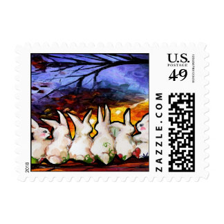 bunny rabbits stamps