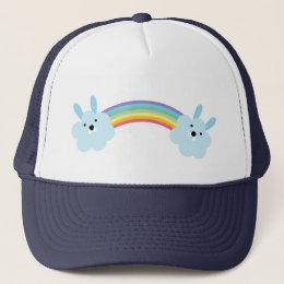 Bunny Rainbow Trucker Hat