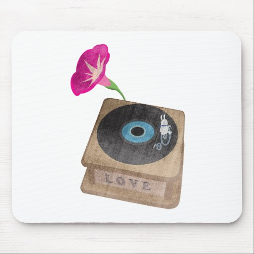Bunny riding on the Gramophone Mousepad