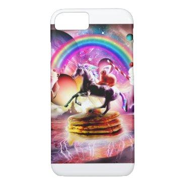 Bunny Riding Unicorn With Pancakes And Milkshake iPhone 8/7 Case
