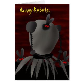 Bunny Robots.. Greeting Card