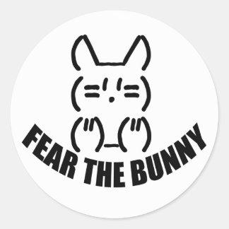 Bunny Round Sticker x 6