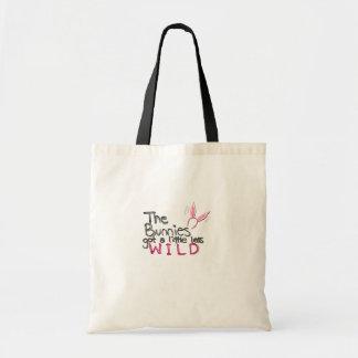 Bunny~ salvaje bolsas lienzo