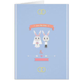 bunny save the date card