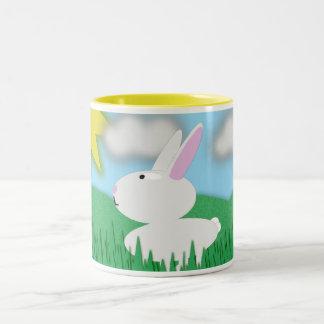 Bunny Scene Two-Tone Coffee Mug