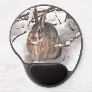 Bunny Seeking Shelter Gel Mouse Pad