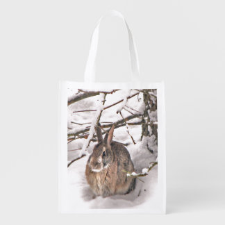 Bunny Seeking Shelter Market Tote