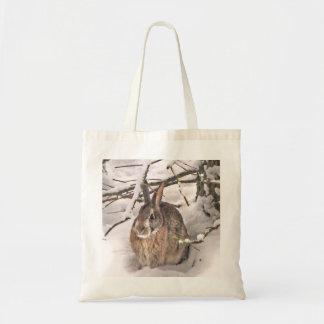 Bunny Seeking Shelter Tote Bag
