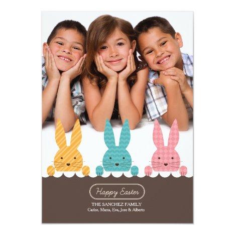 Bunny Siblings Photo Easter Card