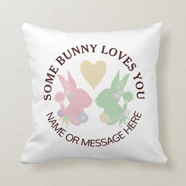 Bunny Silhouettes and Heart Pastels 2 Cute Modern