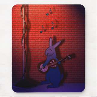BUNNY SINGS THE BLUES MOUSE PAD