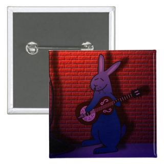 BUNNY SINGS THE BLUES PINBACK BUTTON