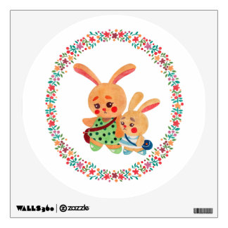 Bunny Sisters Wall Sticker
