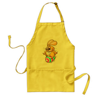 Bunny Sitting on an Easter Egg Adult Apron