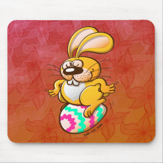 Bunny Sitting on an Easter Egg Mouse Pad