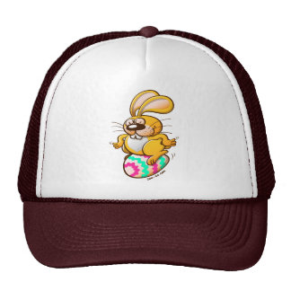 Bunny Sitting on an Easter Egg Trucker Hat