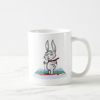Bunny Skiing Coffee Mug
