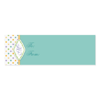 Bunny Skinny Gift Tag 2 Business Cards