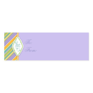 Bunny Skinny Gift Tag Business Card Template