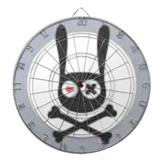 Bunny Skull and Crossbones with Heart and X Eye Dartboard