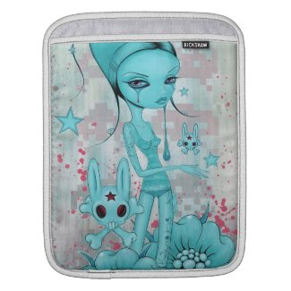 Bunny Skull iPad Sleeve rickshaw_sleeve