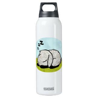 Bunny sleeping insulated water bottle