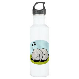 Bunny sleeping stainless steel water bottle
