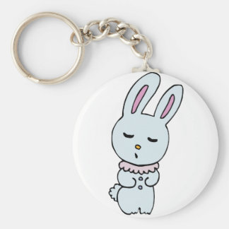 Bunny Soft Blue Colored Keychain