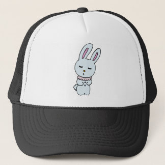 Bunny Soft Blue Colored Trucker Hat