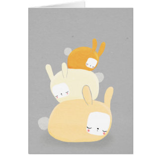 bunny stack in orange and gray card