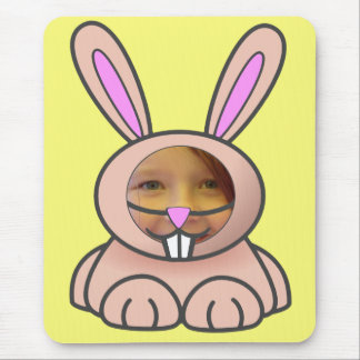 Bunny Suit Yellow Template Mousepad
