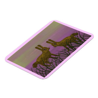 Bunny Sunset Premium Magnet