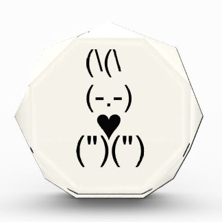 Bunny text and keyboard heart acrylic award