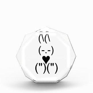 Bunny text and keyboard heart award