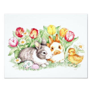 Bunny Time Magnet 4.25x5.5 Paper Invitation Card