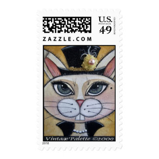 Bunny Tophat Postage Stamp