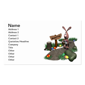 Bunny Trail Double-Sided Standard Business Cards (Pack Of 100)