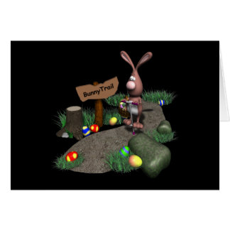 Bunny Trail Greeting Card