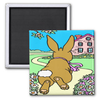 Bunny Trail Easter Magnet