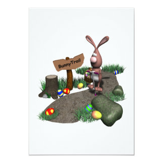 Bunny Trail 5x7 Paper Invitation Card