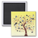 BUNNY TREE 2 INCH SQUARE MAGNET