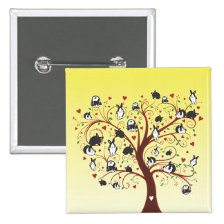 BUNNY TREE PINBACK BUTTONS