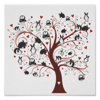 BUNNY TREE POSTERS