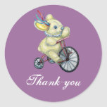 Bunny Tricycle Baby Thank-you Sticker