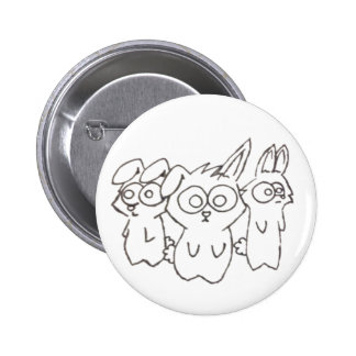 Bunny Trio Button