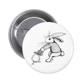 Bunny Tugging on Turnip Button